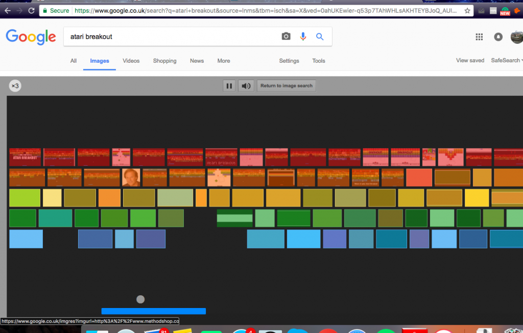 Search 'Atari Breakout' on Google to play